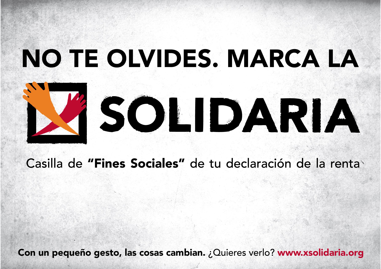 Marca la X solidaria en tu declaración de la renta